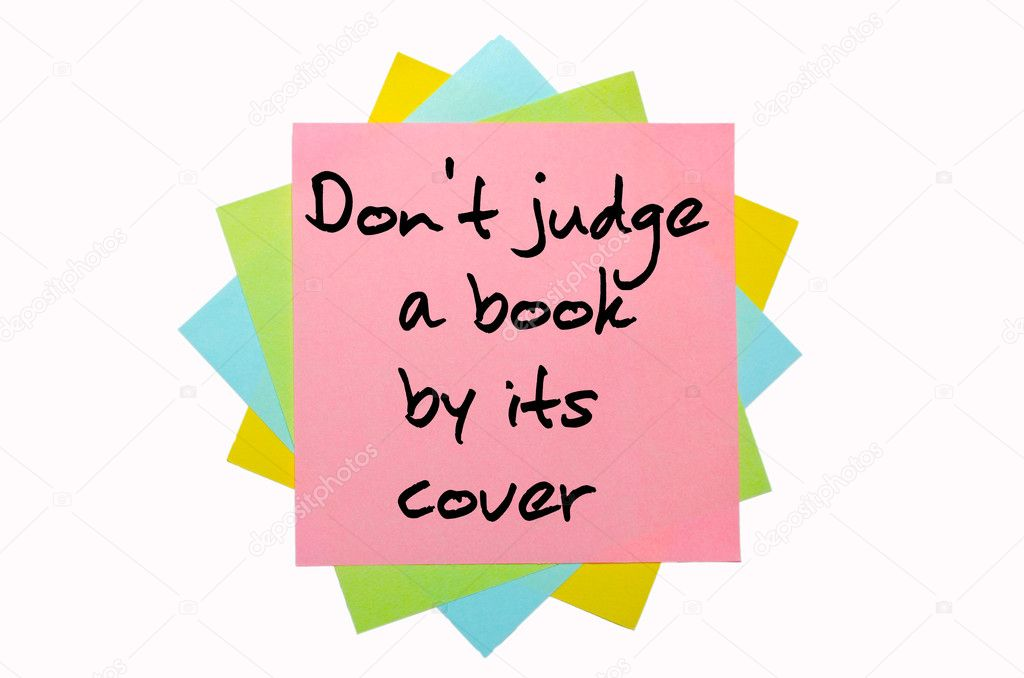 Do not judge the book by