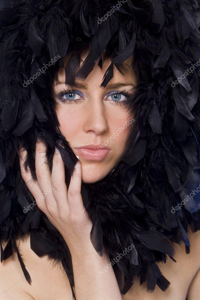 cara de pluma enmarcado — Fotos de Stock © dmbaker #6790804