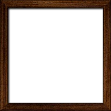 Blank wooden frame onwhite background