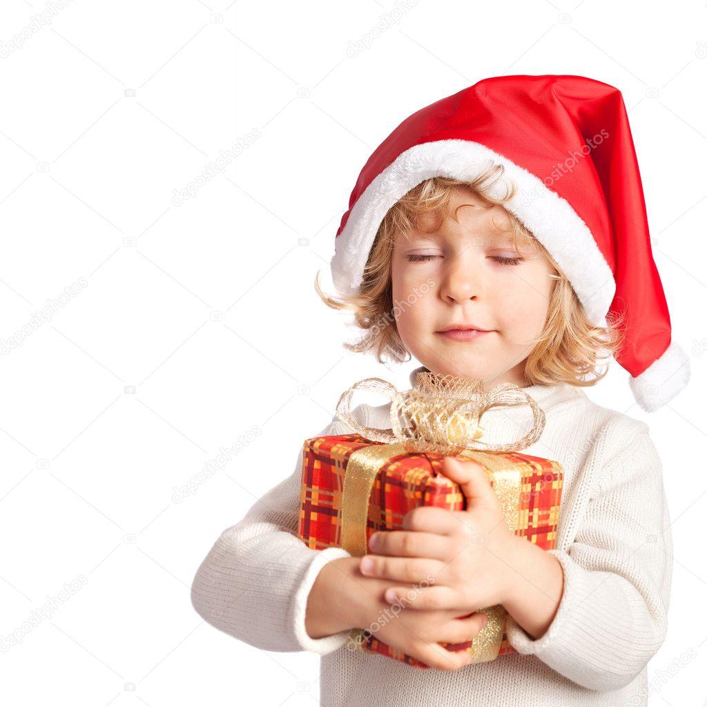 Baby halten Weihnachtsgeschenk — Stockfoto © Yaruta #6892337