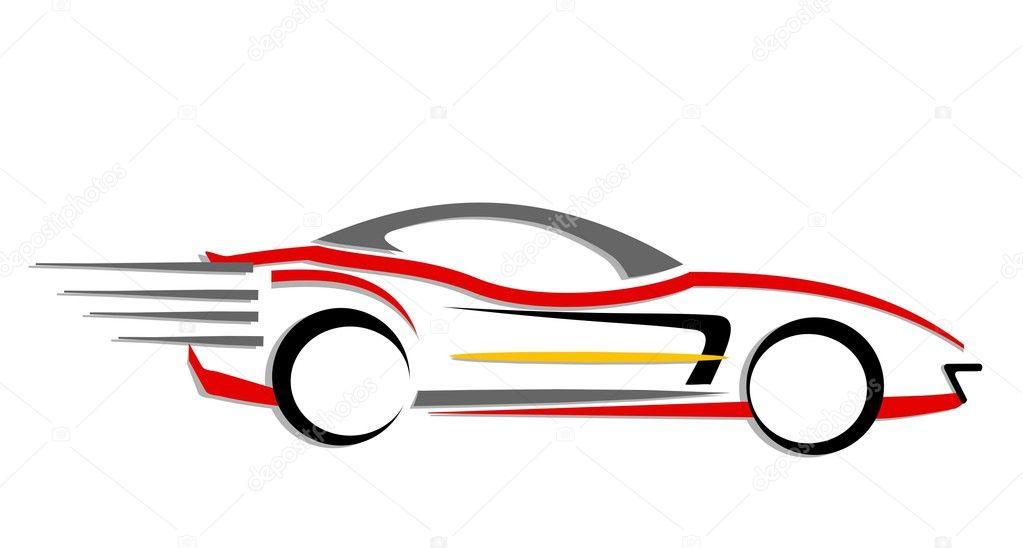 schnell bewegliche Auto-Symbol — Stockfoto © snehitdesign #7825154