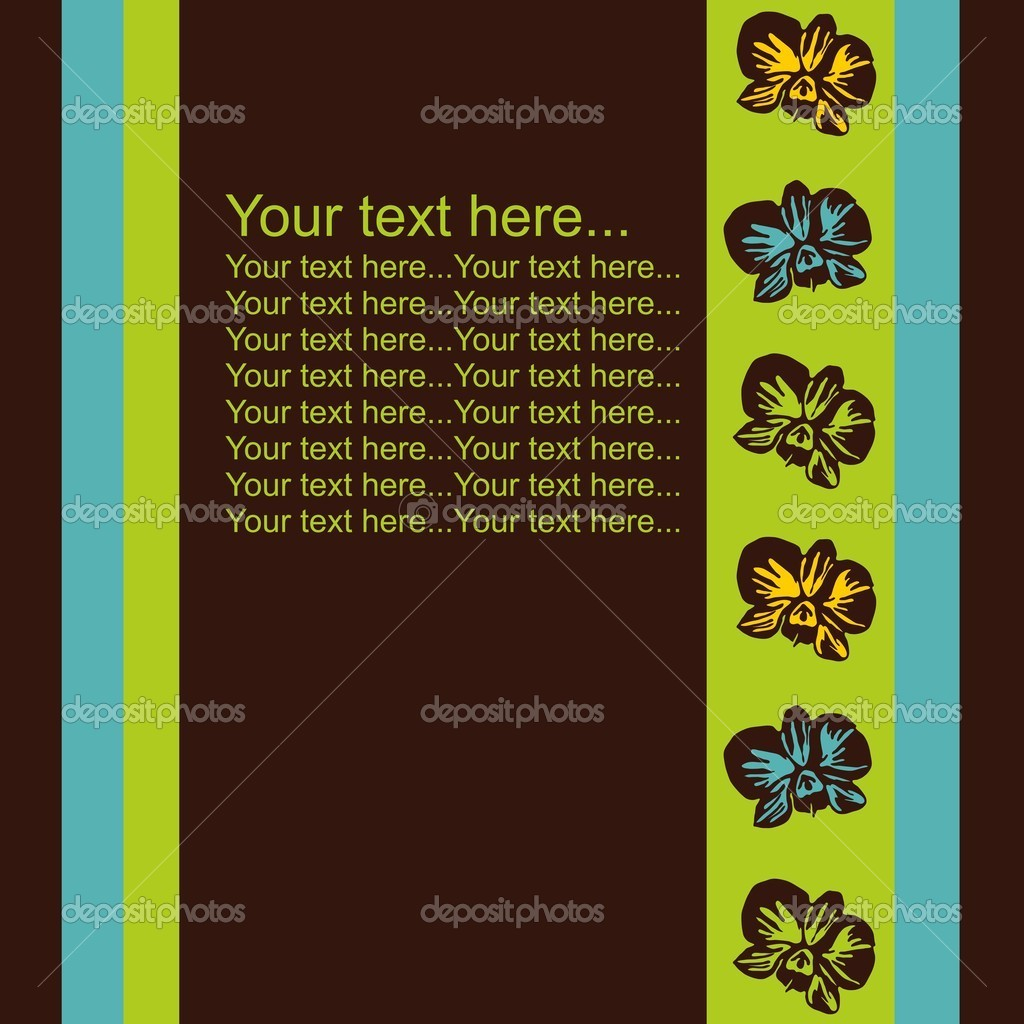 Orchid card with place for text