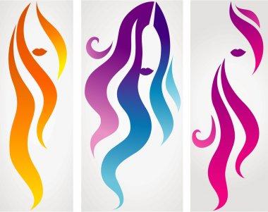 Set of female icons