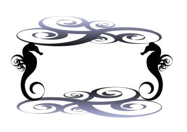 Sea horse frame