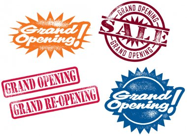 Grand Opening Stamps