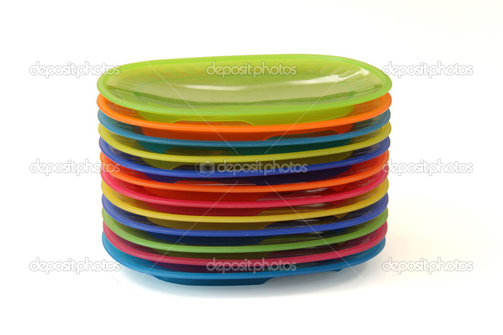 Plastic colored plates \u2014 Stock Photo  sc 1 st  Depositphotos & Plastic colored plates \u2014 Stock Photo © MarianKadlec311 #7942327