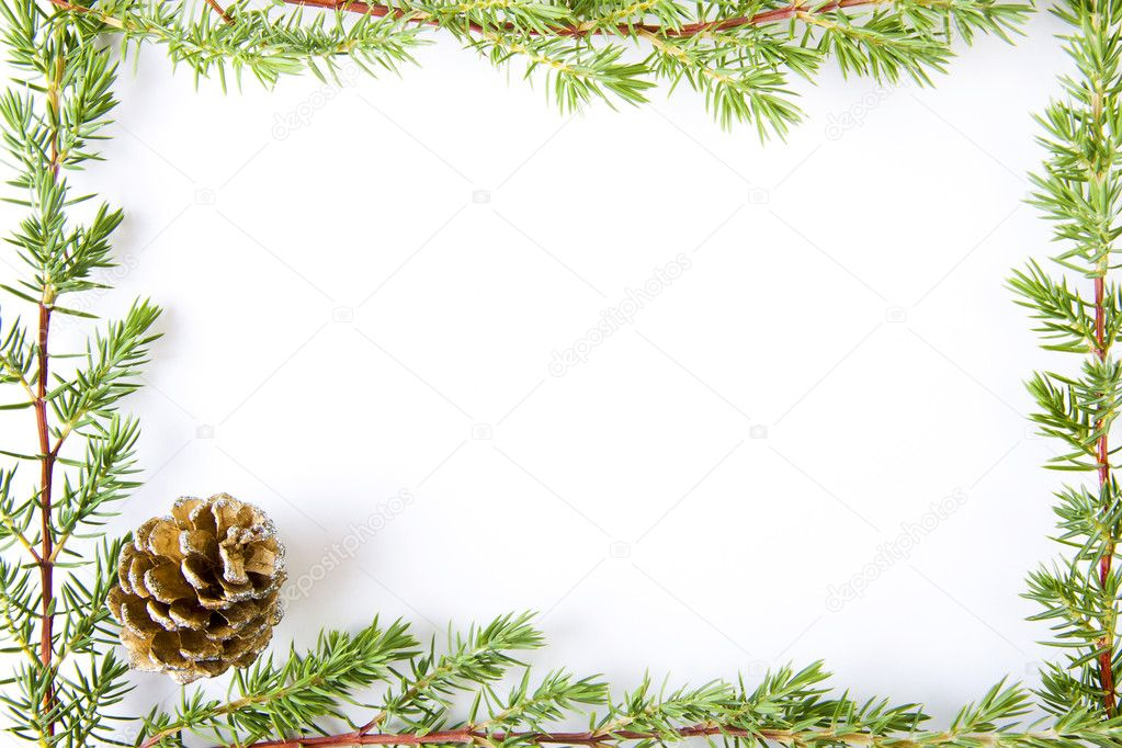 Christmas Decorations Backgrounds Frames And Cards Stock Photo