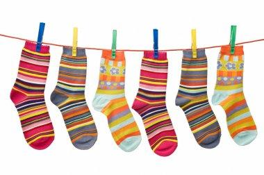 Socks on the clothesline