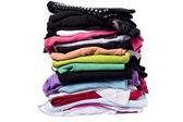 Fényképek sok szín a fehér mosás és vasalás ruhát