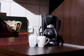 kávéfőzők, és két csésze