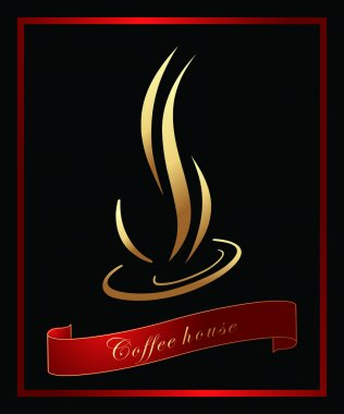 Coffee label/ background