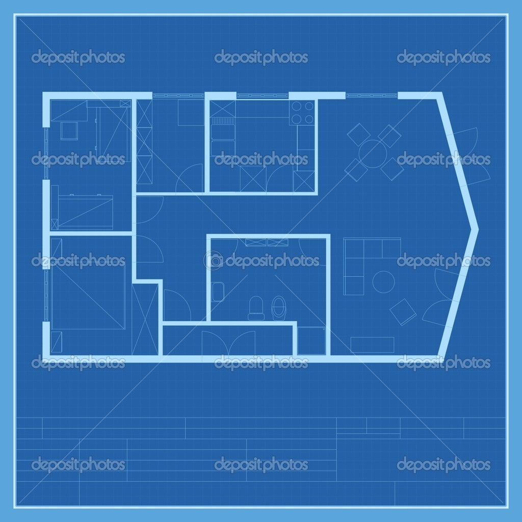 House plan blueprint vector — Stock Vector © SlavicaPopovska