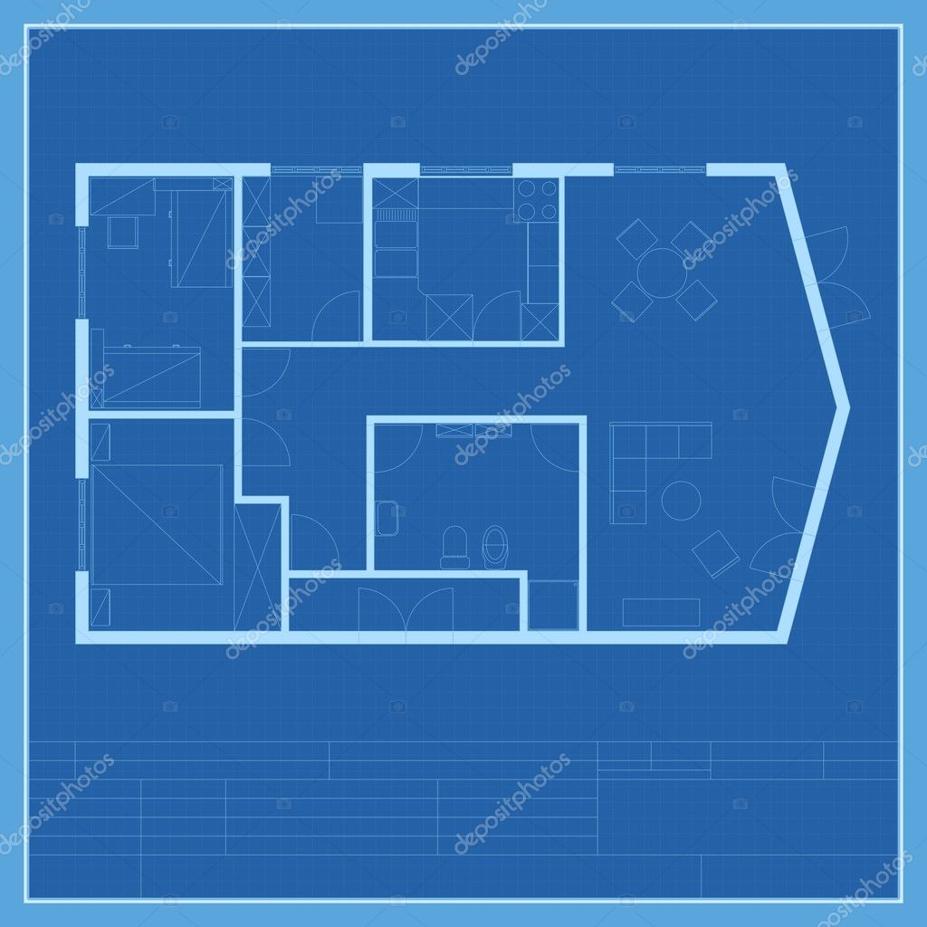 House Plan Blueprint Vector Stock Vector