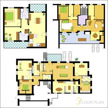 Set of ground floor blueprints