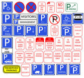 Fotografie Several parking signs