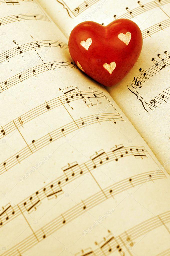 Romantische Musik — Stockfoto © andrejad #7371281