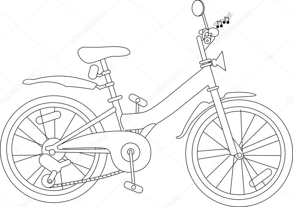 Imágenes Una Bicicleta Para Colorear Bicicleta Para Colorear