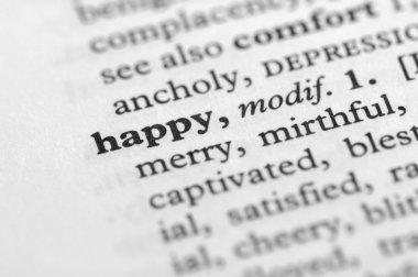 Dictionary Series - Happy