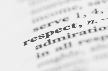 Dictionary Series - Respect