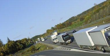 Trucking fleet on the move