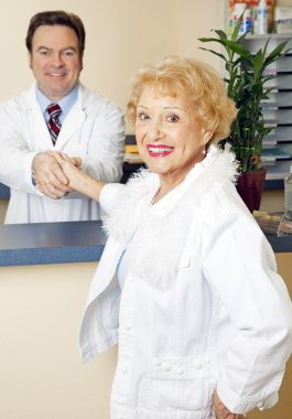 Senior Lady Meets her Doctor
