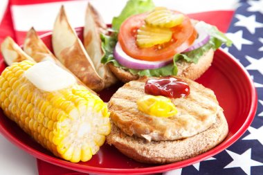 Fourth of July Picnic - Turkey Burger