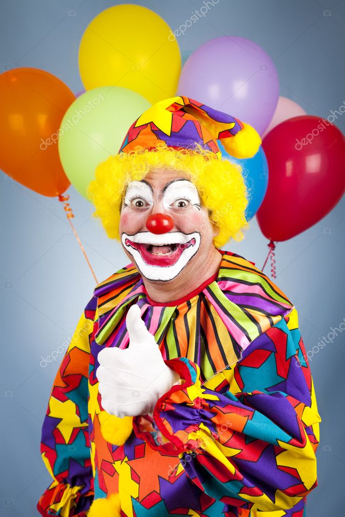 Happy Clown Thumbs Up — Stock Photo © lisafx #6802418