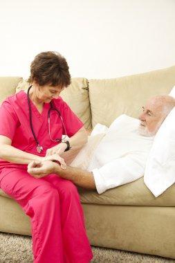 Home Nursing - Taking Pulse