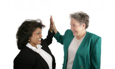 Female Business Team - High Five