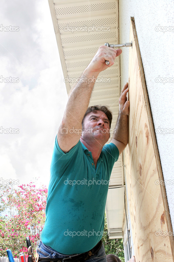Hurricane Preparation - Attaching Plywood
