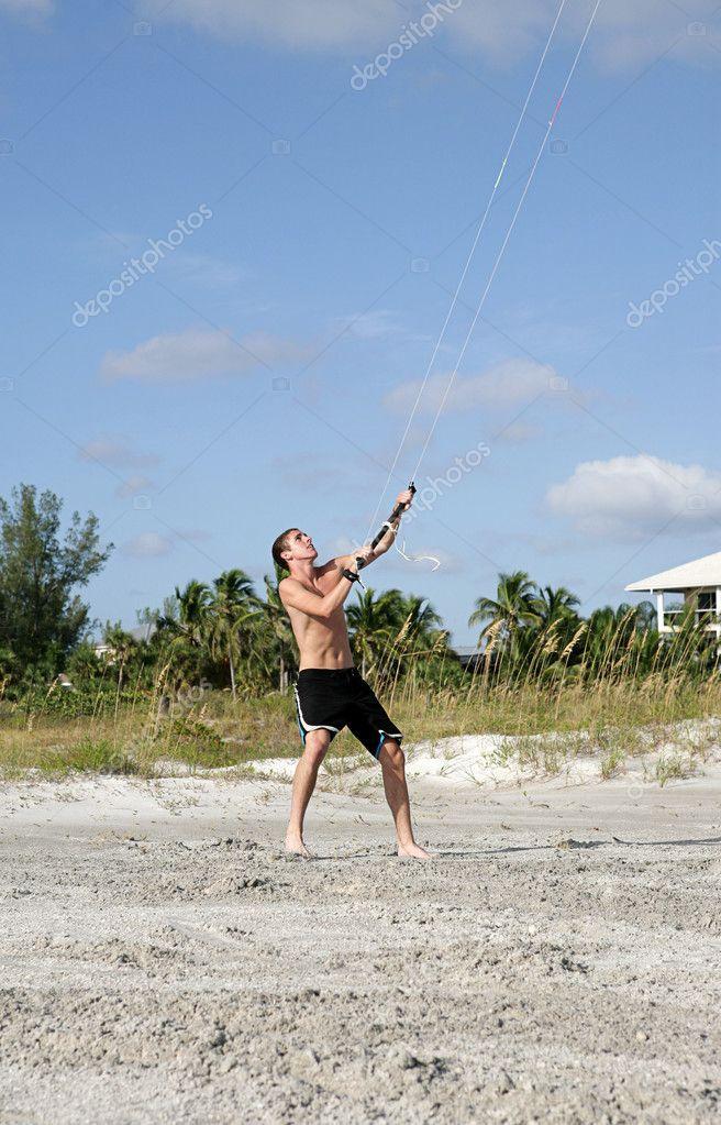 Parasailer on Beach