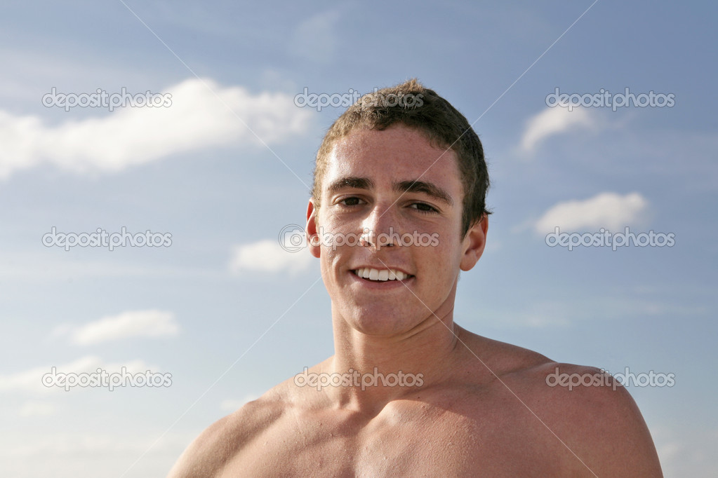 Young Shirtless Man