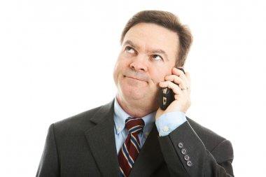 Businessman - Boring Phone Call