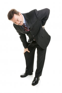 Businessman Suffers with Back Pain