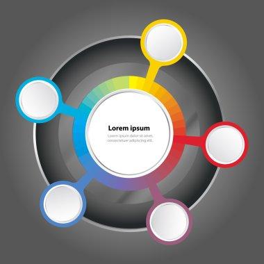 Vector graph color spectrum background