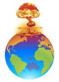 Fényképek Robbanás föld katasztrófa koncepció