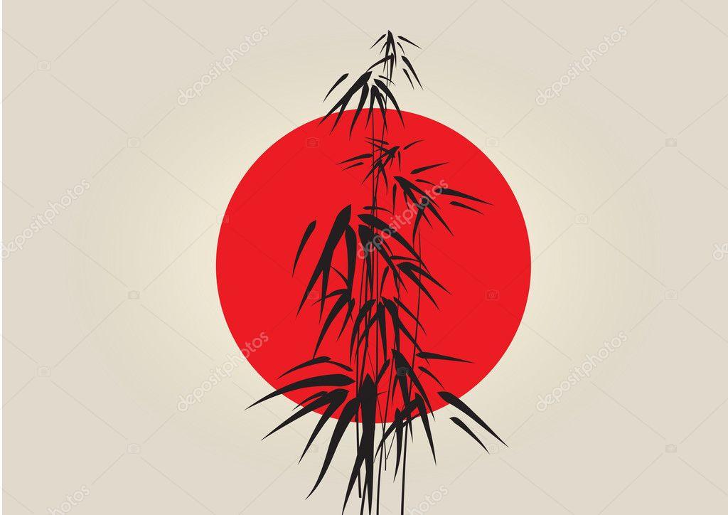 Japan bamboo background