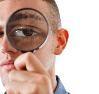 Man searching for somerhing