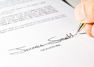 Imaginary signature on a contract