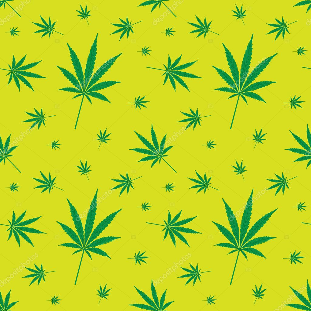 Cannabis leaf pattern