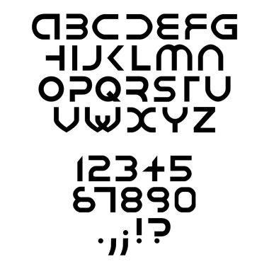 Futuristic alphabet font