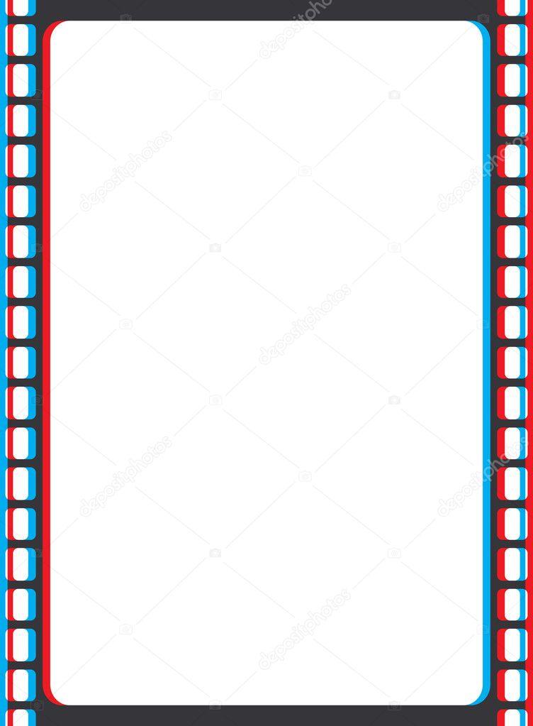 Retro 3d roten und blauen Rahmen — Stockvektor © angeliquedesign ...
