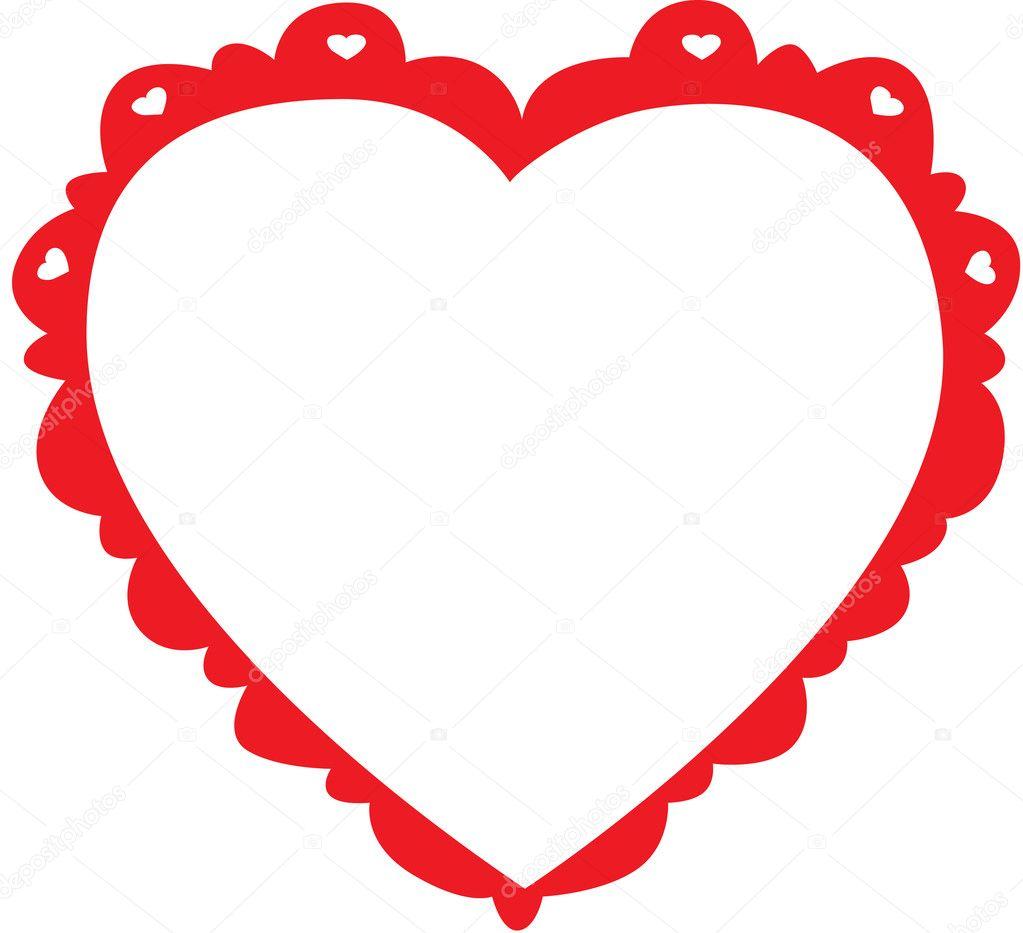 Cartoon Heart Frame — Stock Photo © angeliquedesign #7469855