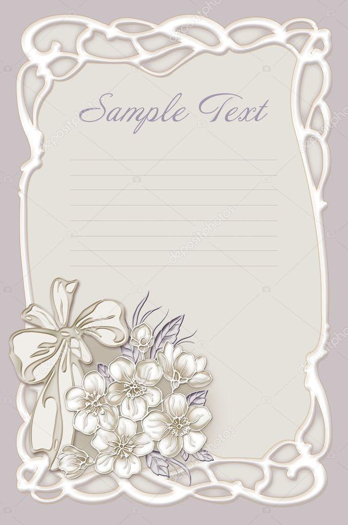 wedding invitation card — stock photo © art321 7042600
