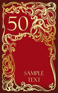 50 anniversary, jubilee, Happy birthday