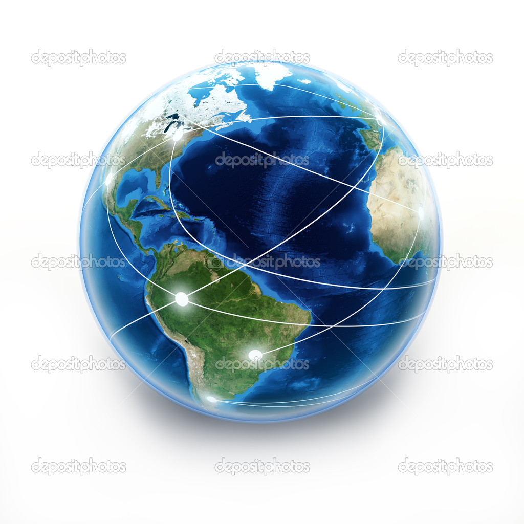 Internet Earth globe