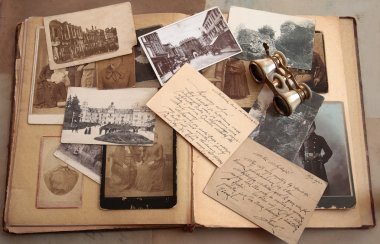 Old photos,postcards and corresponence.