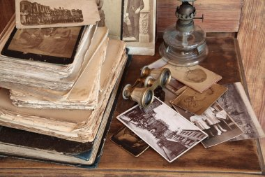 Old books,postcards,photos.