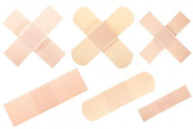 Bandage collection isolated on white