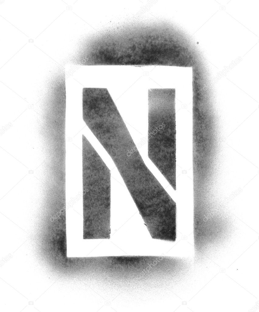 stencil letters in spray paint stock photo